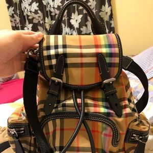 Limited !Burberry backpack small rainbow